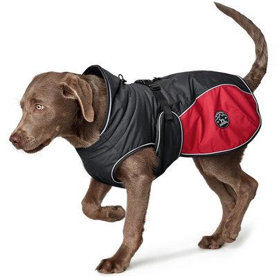 Hunter утепленная куртка со съемной флисовой подкладкой для собак Uppsala Allrounder, цвет антрацит/красный (фото)