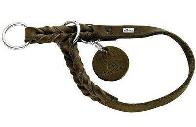 Hunter ошейник-полуудавка Solid Education, цвет оливковый (фото)