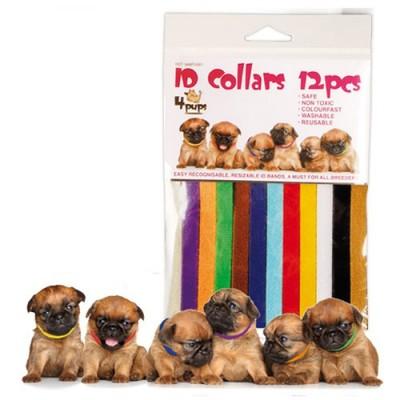 Набор ошейников для щенков 4Pups ID Collars, 12 штук (фото)