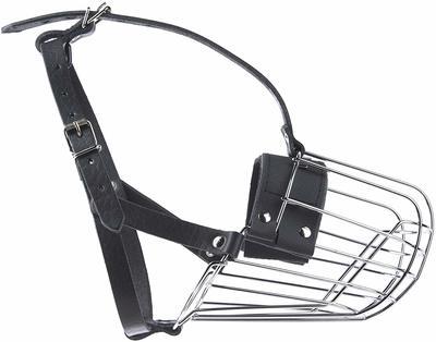 JULIUS-K9 металлический намордник для собак с удлиненной мордой Middle (37х13х10см), немецкая овчарка (фото)