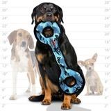 Tuffy супер прочная игрушка для собак Буксир для перетягивания с кольцами, голубой камуфляж, прочность 9/10, Ultimate Tug-O-War Camo Blue