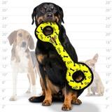 Tuffy супер прочная игрушка для собак Буксир для перетягивания с кольцами, желтый, прочность 9/10, Ultimate Tug-O-War Yellow Bone