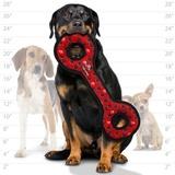 Tuffy супер прочная игрушка для собак Буксир для перетягивания с кольцами, красный, прочность 9/10, Ultimate Tug-O-War Red Paw