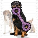Tuffy супер прочная игрушка для собак Буксир для перетягивания с кольцами, розовый леопард, прочность 9/10, Ultimate Tug-O-War Pink Leopard
