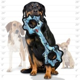 Tuffy супер прочная игрушка для собак Буксир для перетягивания с шестеренками, голубой камуфляж , прочность 9/10, Ultimate Tug-O-Gear Camo Blue