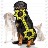 Tuffy супер прочная игрушка для собак Буксир для перетягивания с шестеренками, желтый, прочность 9/10, Ultimate Tug-O-Gear Yellow Bone