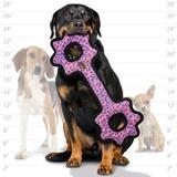 Tuffy супер прочная игрушка для собак Буксир для перетягивания с шестеренками, розовый леопард , прочность 9/10, Ultimate Tug-O-Gear Pink Leopard