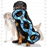 Tuffy супер прочная игрушка для собак Буксир для перетягивания тройной, голубой камуфляж, прочность 9/10, Ultimate 3WayTug Camo Blue