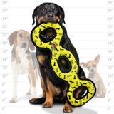Tuffy супер прочная игрушка для собак Буксир для перетягивания тройной, желтый, прочность 9/10, Ultimate 3WayTug Yellow Bone