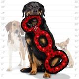 Tuffy супер прочная игрушка для собак Буксир для перетягивания тройной, красный, прочность 9/10, Ultimate 3WayTug Red Paw