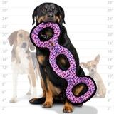 Tuffy супер прочная игрушка для собак Буксир для перетягивания тройной, розовый леопард, прочность 9/10, Ultimate 3WayTug Pink Leopard