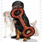 Tuffy супер прочная игрушка для собак Буксир для перетягивания, узор кирпич, прочность 10/10, Mega Tug Oval Brick