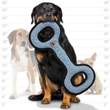 Tuffy супер прочная игрушка для собак Буксир для перетягивания, узор решетка, прочность 10/10, Mega Tug Oval Chain Link