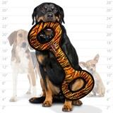Tuffy супер прочная игрушка для собак Буксир для перетягивания, узор тигр, прочность 10/10, Mega Tug Oval Tiger