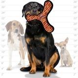 Tuffy супер прочная игрушка для собак Бумеранг, узор кирпич, прочность 10/10, Mega Bowmerang Brick