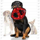 Tuffy супер прочная игрушка для собак Тройное кольцо, красный, прочность 9/10, Ultimate 3WayRing Red Paw