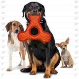 Tuffy супер прочная игрушка для собак Треугольник с круглым отверстием, красный, прочность 9/10, Triangle Ring ZigZag Red/Red