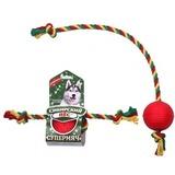 """Сибирский Пёс игрушка для собак """"Супермяч"""" на верёвке с двумя узлами"""