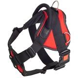 Каскад шлейка нейлоновая с ручкой и треугольником на груди, пластиковый фастекс с блокировкой, цвет красный