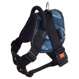 Каскад шлейка нейлоновая с ручкой и треугольником на груди, пластиковый фастекс с блокировкой, цвет синий камуфляж