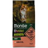 Monge Cat BWild GRAIN FREE беззерновой корм из лосося и гороха для взрослых кошек