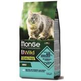 Monge Cat BWild GRAIN FREE беззерновой корм из трески, картофеля и чечевицы для взрослых кошек