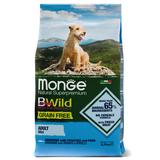 Monge Dog BWild GRAIN FREE Mini беззерновой корм из анчоуса с картофелем и горохом для взрослых собак мелких пород Mini Anchovies, potatoes & peas