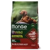 Monge Dog BWild GRAIN FREE беззерновой корм из мяса ягненка с картофелем и горохом для взрослых собак всех пород Lamb, potatoes & peas