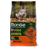 Monge Dog BWild GRAIN FREE беззерновой корм из мяса утки с картофелем для взрослых собак всех пород Duck & potatoes
