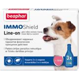 Beaphar Капли IMMO Shield Line-on от паразитов для собак мелких пород, 3 пипетки