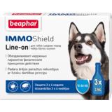Beaphar Капли IMMO Shield Line-on от паразитов для собак средних пород, 3 пипетки