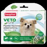 Beaphar Биокапли VETO pure от паразитов для собак мелких пород, 3 пипетки