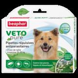Beaphar Биокапли VETO pure от паразитов для собак средних пород , 3 пипетки