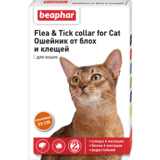 Beaphar Ошейник Flea & Tick collar for Cat от блох и клещей для кошек оранжевый