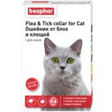 Beaphar Ошейник Flea & Tick collar for Cat от блох и клещей для кошек красный