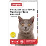 Beaphar Ошейник Flea & Tick collar for Cat от блох и клещей для кошек желтый