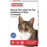 Beaphar Ошейник Flea & Tick collar for Cat от блох и клещей для кошек синий