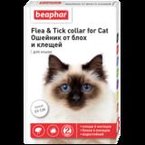 Beaphar Ошейник Flea & Tick collar for Cat от блох и клещей для кошек белый