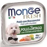 Monge Dog Fresh консервы для собак курица с овощами 100г