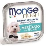 Monge Dog Fresh консервы для собак треска 100г