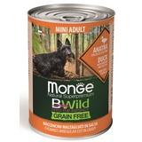 Monge Dog BWild Grainfree ADULT MINI консервы из утки с тыквой и кабачками для собак мелких пород 400г
