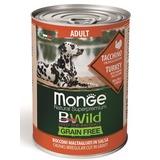 Monge Dog BWild Grainfree ADULT консервы из индейки с тыквой и кабачками для собак всех пород 400г