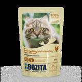 BOZITA Extra Chicken кусочки в соусе с КУРИЦЕЙ для кошек