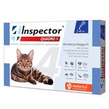 Inspector Quadro Капли капли для кошек от 1 до 4 кг от внешних и внутренних паразитов