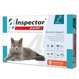 Inspector Quadro Капли капли для кошек от 4 до 8 кг от внешних и внутренних паразитов