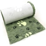 ProFleece меховой коврик на нескользящей основе, рисунок Большая лапка, цвет лайм и черный