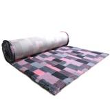 ProFleece меховой коврик на нескользящей основе, рисунок Клетка, цвет розовый с угольным