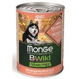 Monge Dog BWild Grainfree ADULT консервы из лосося с тыквой и кабачками для собак всех пород 400г