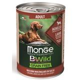 Monge Dog BWild Grainfree ADULT консервы из ягненка с тыквой и кабачками для собак всех пород 400г