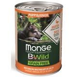 Monge Dog BWild Grainfree PUPPY/JUNIOR консервы из утки с тыквой и кабачками для щенков 400г